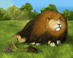 Future Zoo: The (Honorary) King of Beasts by Sheather888