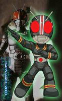 Chibi KamenRider Black Colored by TheALVINtaker