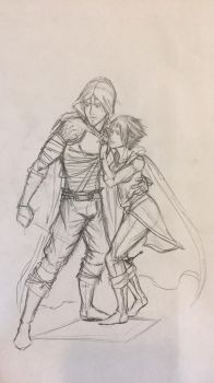 Old Sketch of Stranger and Whisper by Yavanni