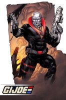 IDW Signature Plates Black 11  Destro coloured sma by RobertAtkins