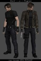 Leon RE4 Remade WIP 2 by psychicsocial