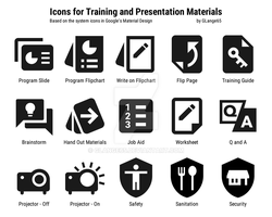 Icons for Training Materials and Presentations by glange65