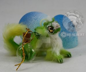 Hatchling Grass Valley Elemental Mini Poseable by M-J-Albert