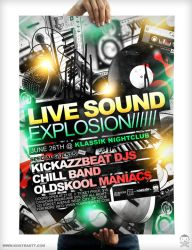 Sound Explosion Flyer + Poster by kontrastt