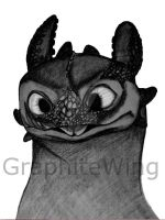 Toothless drawing by GraphiteWing
