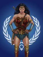 Wonder Woman United Nations by dragynsart