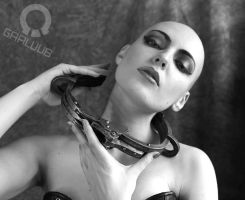 BDSM Metal neck shackle by Gaaluub
