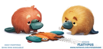 Daily Paint 2006# Flatypus by Cryptid-Creations