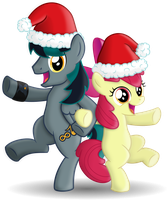 BlackGryph0n and AppleBloom (Christmas Tour) by BlackGryph0n