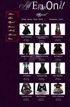 All Eyes on U: Apperal Dress Page by zeiriza