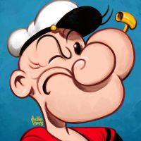 Daily Sketches Popeye by fedde