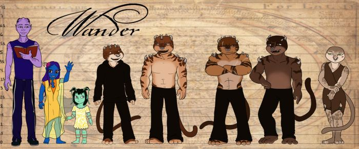 Wander crew height chart by Myrcury-Art