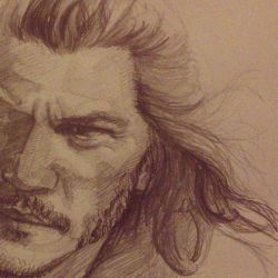 2nd wip of Bard of The Hobbit by Sabriiistrash