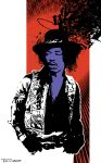 Jimi Hendrix by Tom Kelly by TomKellyART