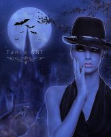 Full  moon by TaniaART