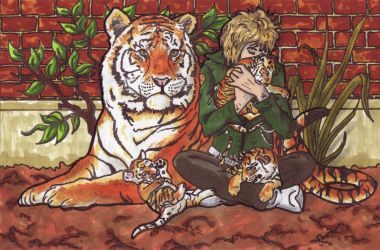 Vince and Tiger cubs by StarWarsQueen