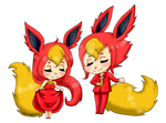 Flareon Transparent by DreamySheepStudios