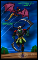 Mazinger Series - Warrior Beast Drayato and Harpy by GearGades