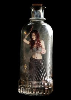 Genie in a bottle by SusanCoffey