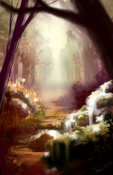 Mystic forest by Martith