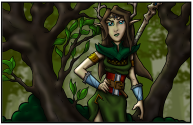 Janelle, Druid of the Forest by Baron-Nutsnboltz