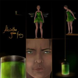 Absinthe green fairy 1 by Gogolle
