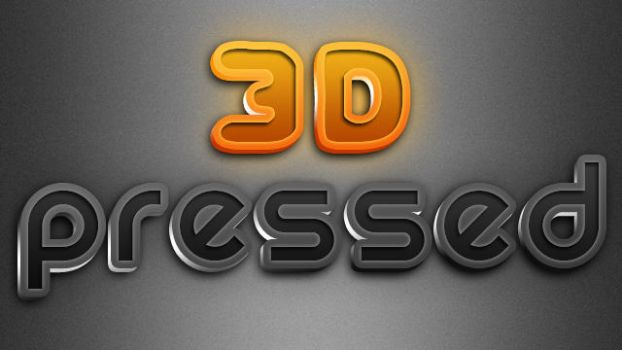 3D Pressed Text Styles by stefusilviu