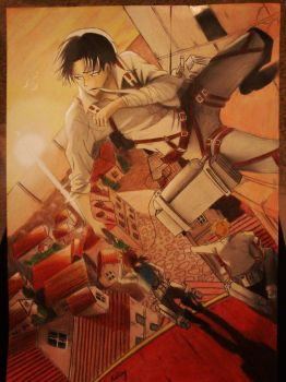 (SNK) Rivaille - looking at the sun by haru4lavi