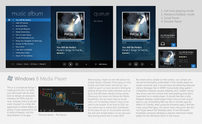 Windows 8 Media Player Concept by fediaFedia