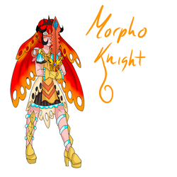 gijinka Morpho Knight concept by LoreaMStudios