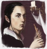 young noldo with a flute by Irsanna
