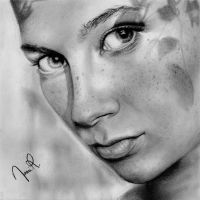 Freckles Drawing by NhaomiArt