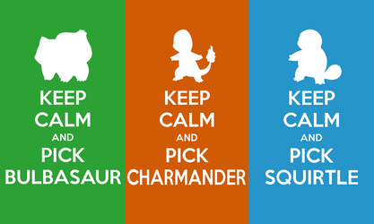 Keep Calm and Pick a Starter Wallpaper by SlamTackle