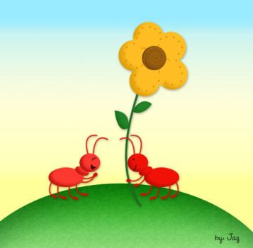 Chatty Ants by myspinster