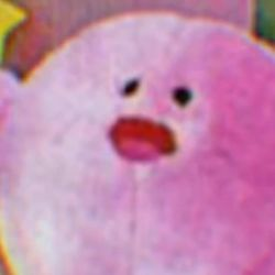 the pink kirb plush that is not an model by Endoskeleton64