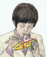 Paul McCartney on ocarina by gagambo
