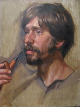 Justin with Pipe by Cefalo