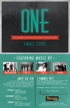 ONE Conference Flyer by ryangirlie