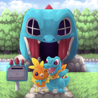 Team Totodile by quasicoatl