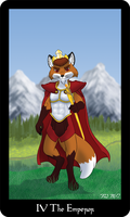 The Vulpine Tarot - IV The Emperor by Mabon-Tail