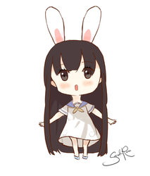 Chibi Bunny Girl by cursedcrown96