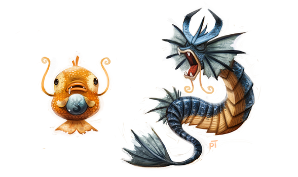 Day 549. Kanto 129 - 130 by Cryptid-Creations