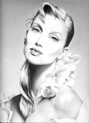 Lady with flowers by Libfly