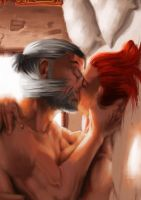 Geralt and triss by AsgerLanghoff
