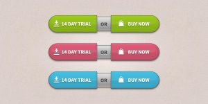 Trial-Buy Buttons (PSD) by softarea