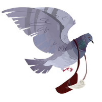 Carrier Pigeon by Nafah
