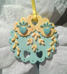 Holiday Christmas Tree Ornament Premo Polymer Clay by Valtira