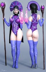 Character Reference Evil Lyn by tiangtam