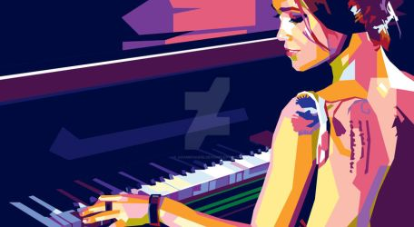 Piano Girl - WPAP Pop Art Commission by AdamKhabibi