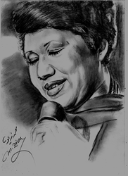 Aretha-Franklin by Mohamed Ziou by MoZiou